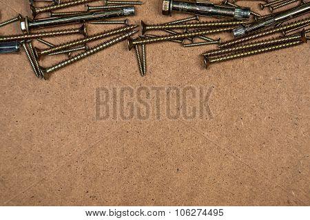 Gold screws on top