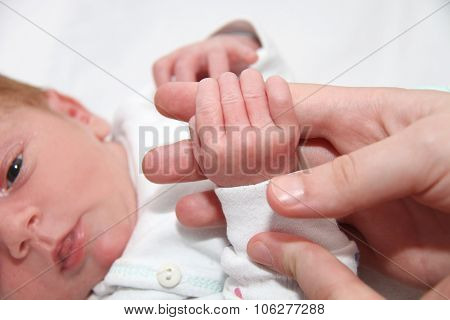 Baby Hand Holding Motherfinger, New Born Baby