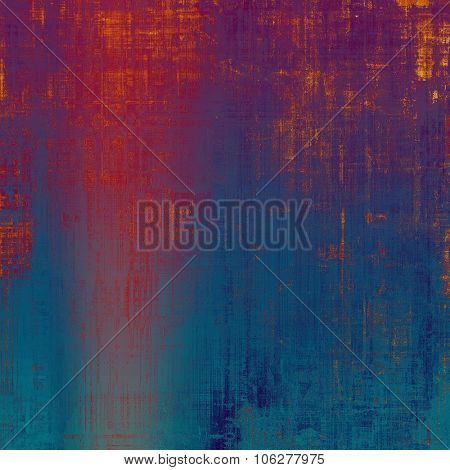 Old-style background, aging texture. With different color patterns: brown; blue; purple (violet); red (orange)