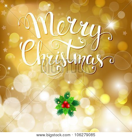 Christmas Background With Handwritten Text