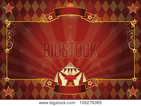 Horizontal rhombus circus background. A Horizontal rhombus circus background for your show. Perfect size for a screen.