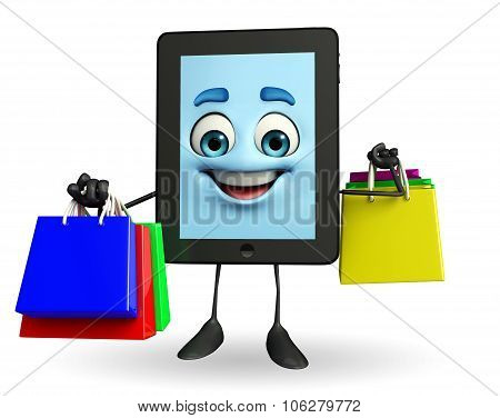 Tab Character With Shopping Bags