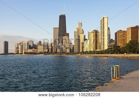 Chicago During Summer Sunrise