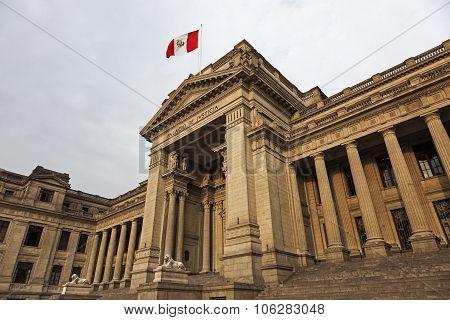 Palacio De Justicia In Downtown Lima