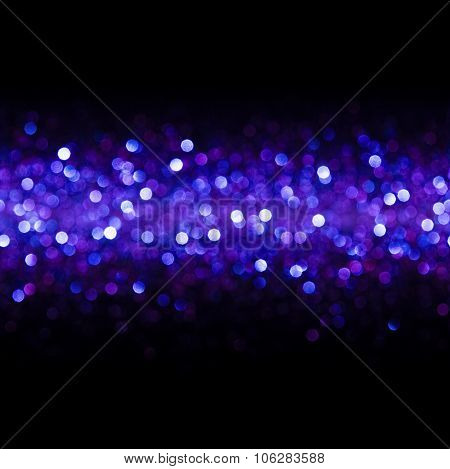 Lights Background, Abstract Seamless Blur Light Bokeh, Blue Glow Pattern