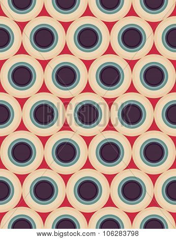 Vector modern seamless colorful geometry circles pattern color red blue abstract