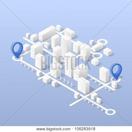 skyscrapers block