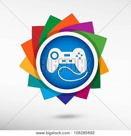 Joystick Icon Color Icon, Vector Illustration