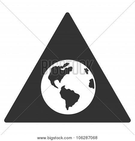 Earth Warning Icon