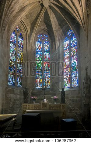 Church Interior In Dinan, Brittany, France
