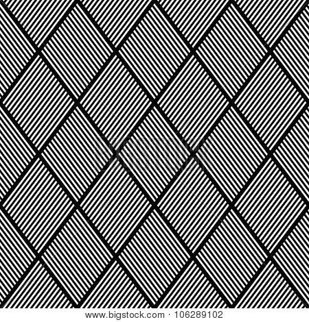 Seamless texture. Pattern of striped diamonds. Vector illustration.