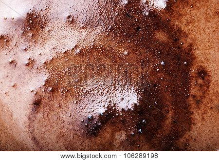 Abstract Coffee Foam Background Image