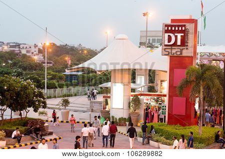 DT mall in Saket Delhi with people