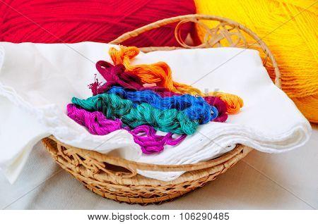 Thread in a basket
