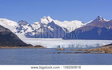 Perito Moreno Glacier On A Sunny Day