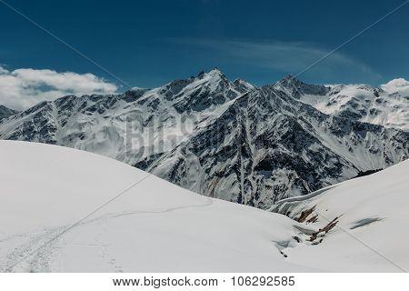 Mount Elbrus Area View.