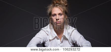 Exhausted Female Worker