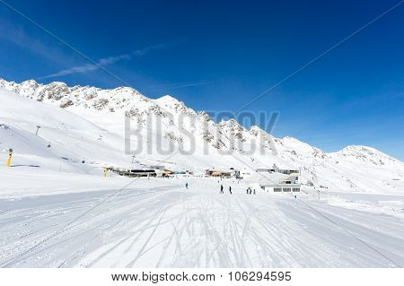 Ski Run At Soelden
