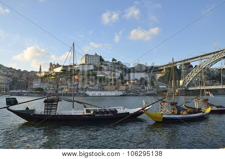 Rabelo Boats At The Douro River