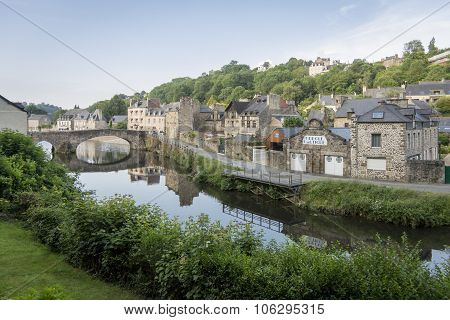 River Rance At Dinan, Brittany, France
