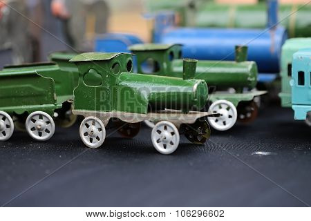 Scale Model Of Steam Train