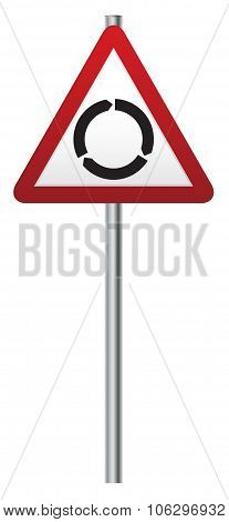 Roundabout Ahead Signpost
