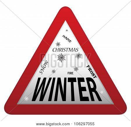 Winter Roadsign