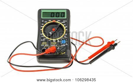 Digital Multimeter Isolated On White Background. Cutout