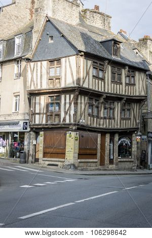 Medieval Building, Dinan, Brittany France