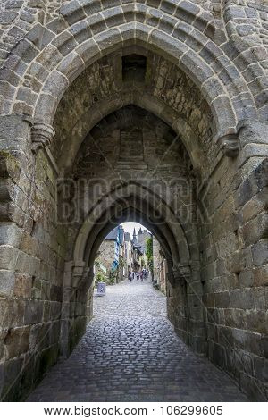 Dinan City Wall Gateway, Brittany, France