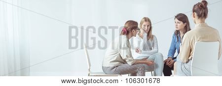 Women During Session With Psychologist