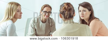 Female Psychologist Helping Her Patients