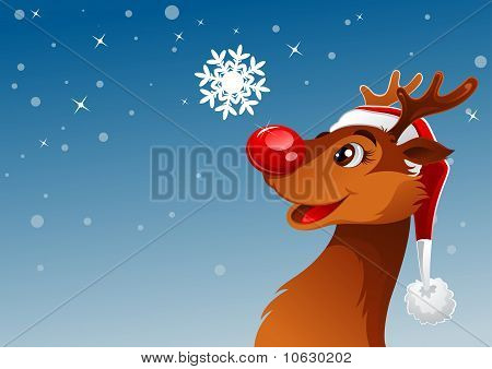 Reindeer And Snowflake
