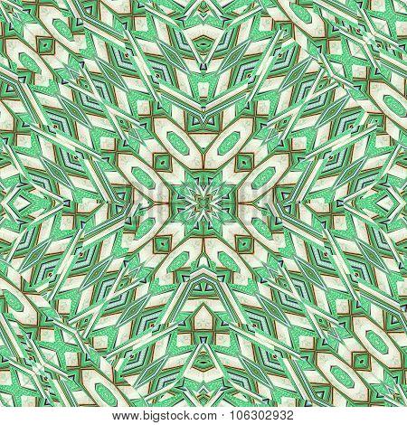 Futuristic Intricate Geometric Seamless Pattern