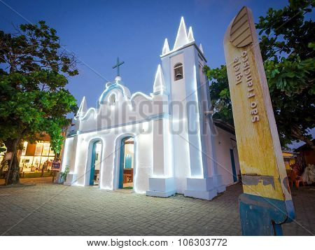 Sao Francisco Church In Praia Do Forte, Bahia, Brazil