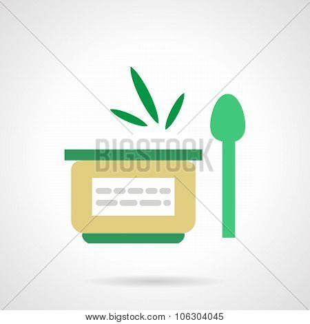 Vegetable puree flat simple vector icon