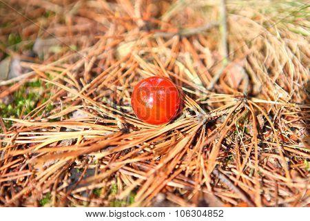 Red carnelian ball