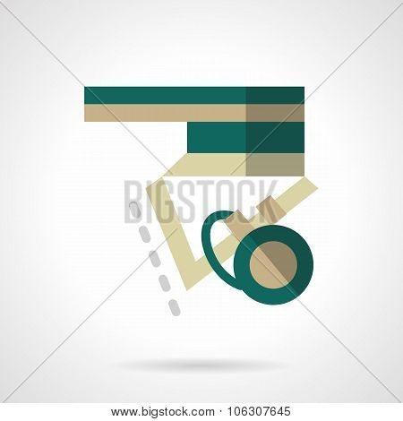 Longboard element flat color vector icon