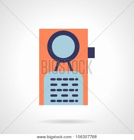 Door knob flat vector icon