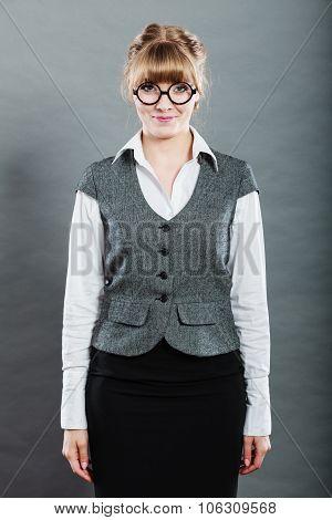 Portrait Of Elegant Young Businesswoman Secretary.