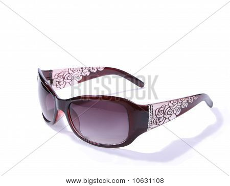 Fancy female sunglasses isolated on white background