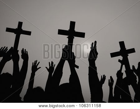 Cross Catholicism Determination Spiritually Crucifix Concept