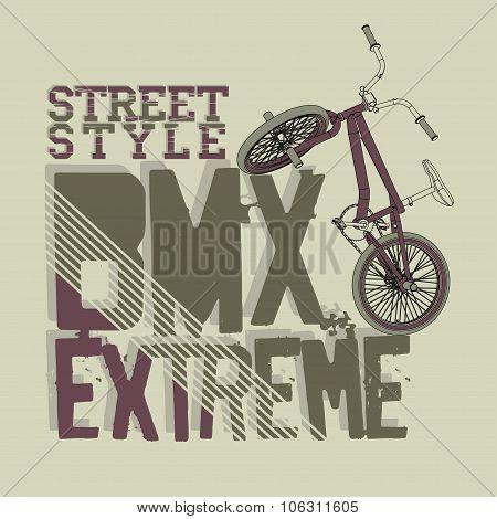 BMX Riding vector Typography