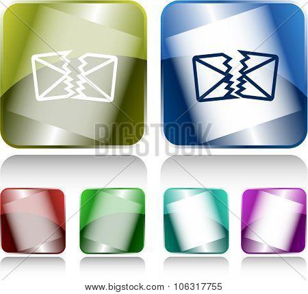 defective mail. Internet buttons. Raster illustration.