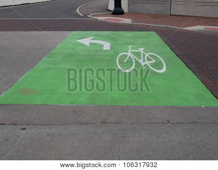 Bike Lane Turn Box Pavement Markings