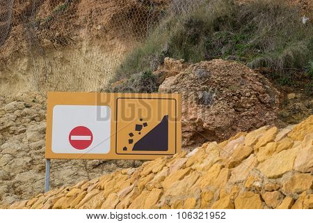 Landslide Warning Sign