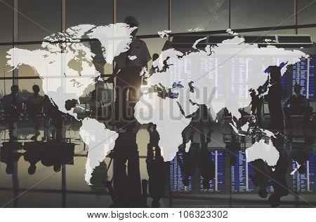 World Global Cartography Globalization Earth International Concept