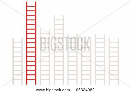 Red Ladder Among White