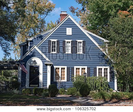 Blue Wood Sided House
