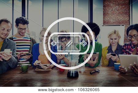 Video Game Controlling Joy Pad Gaming Concept